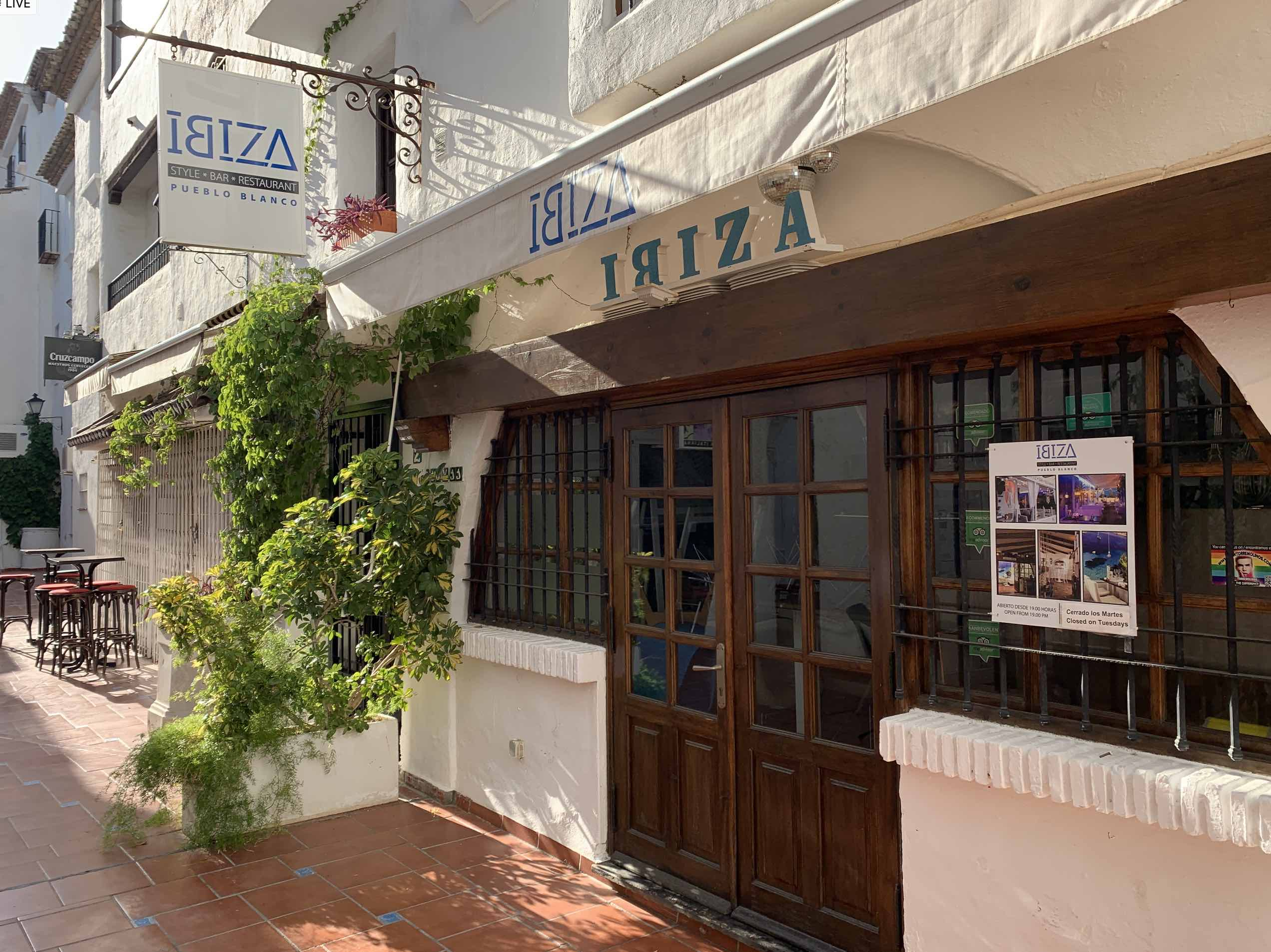 ibiza bar style restaurant