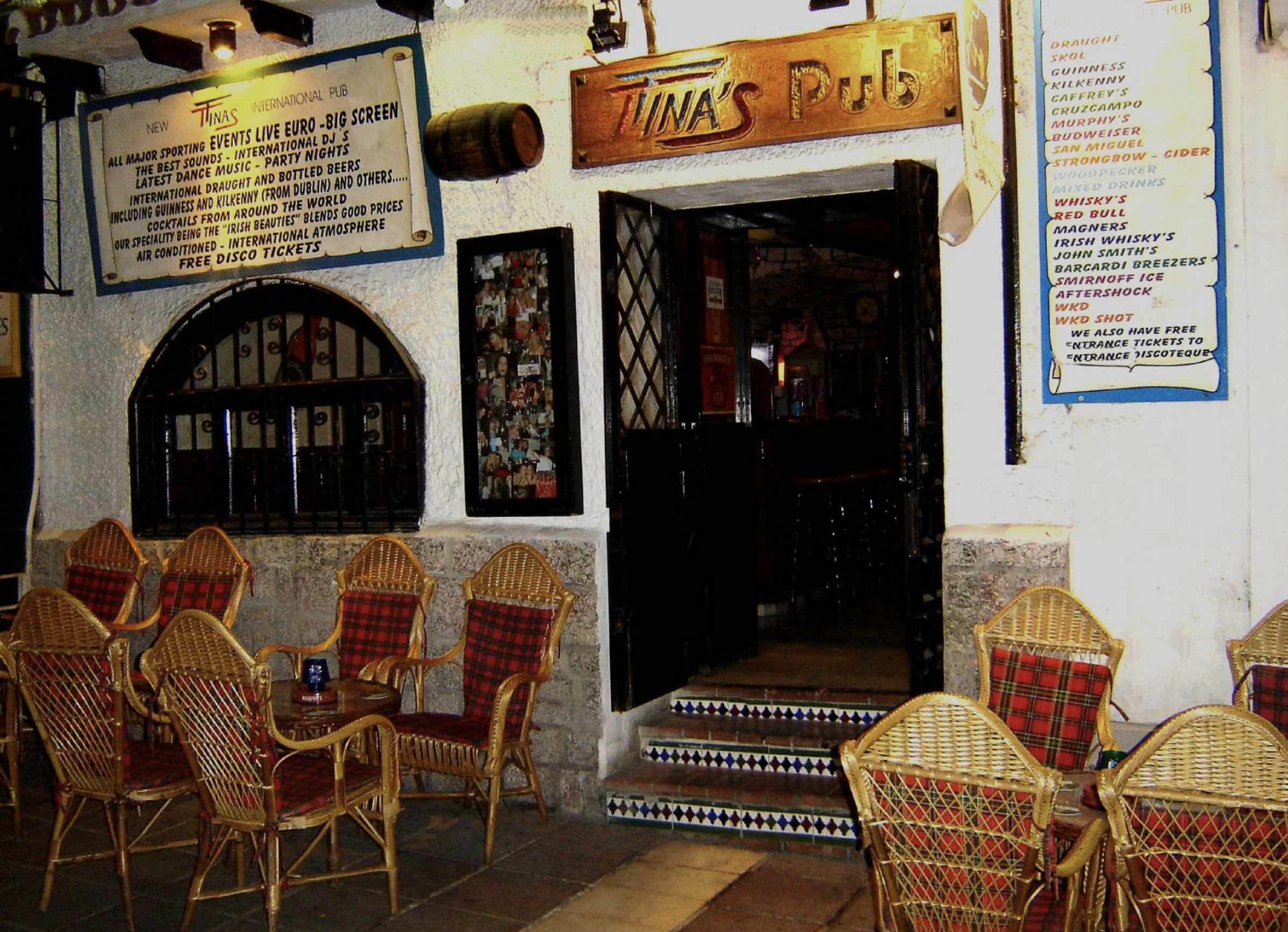Tina's pub in 2014